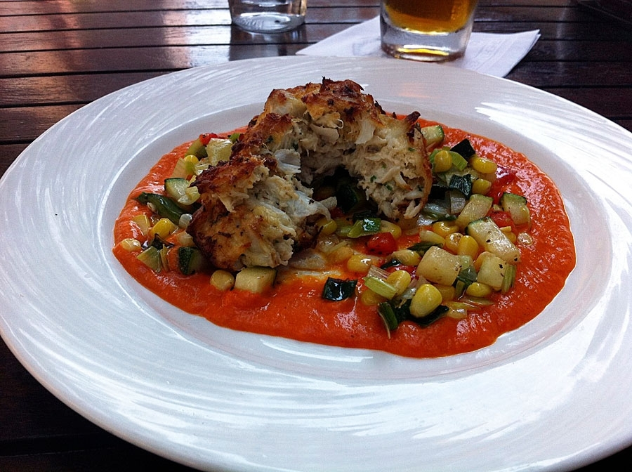 American Tap Room Red Pepper Crab Cake