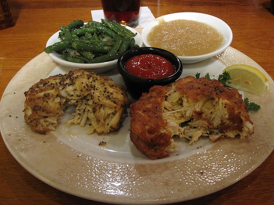Jerry's Original (right) and Firecracker (left) Crab Cakes