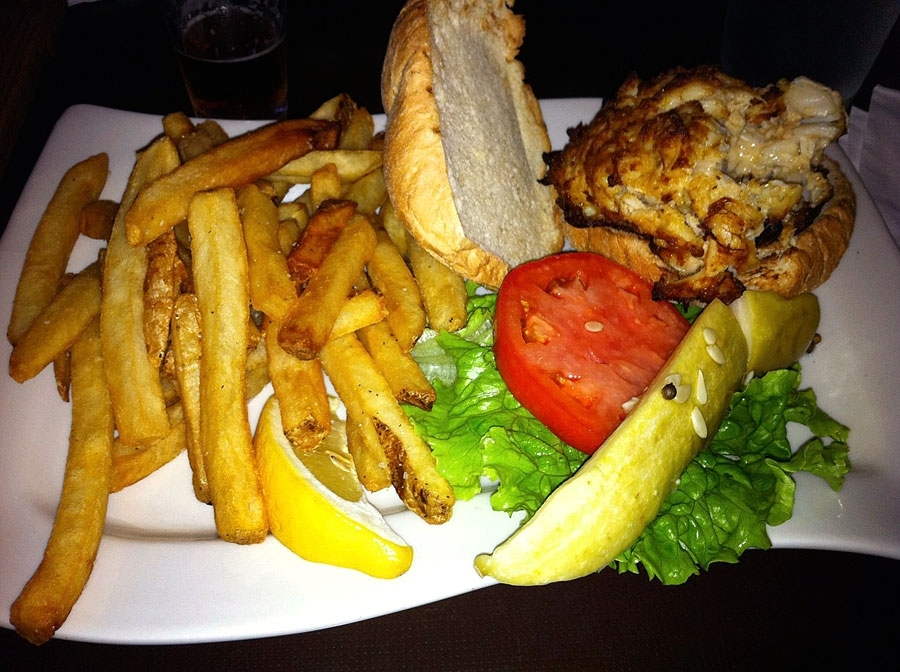 Ruddy Duck Crab Cake Sandwich
